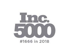 Inc 5000 #1666 in 2018