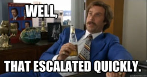 Anchorman - Well, that escalated quickly