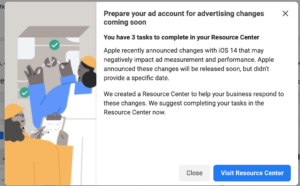 Facebook Resource Center Notification