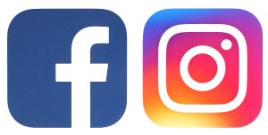 Facebook and Instagram's Icons