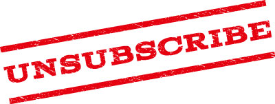 stamp that says unsubscribe