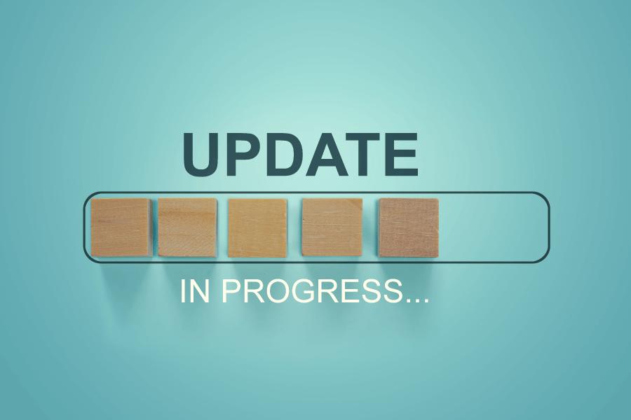 Update bar with wooden blocks