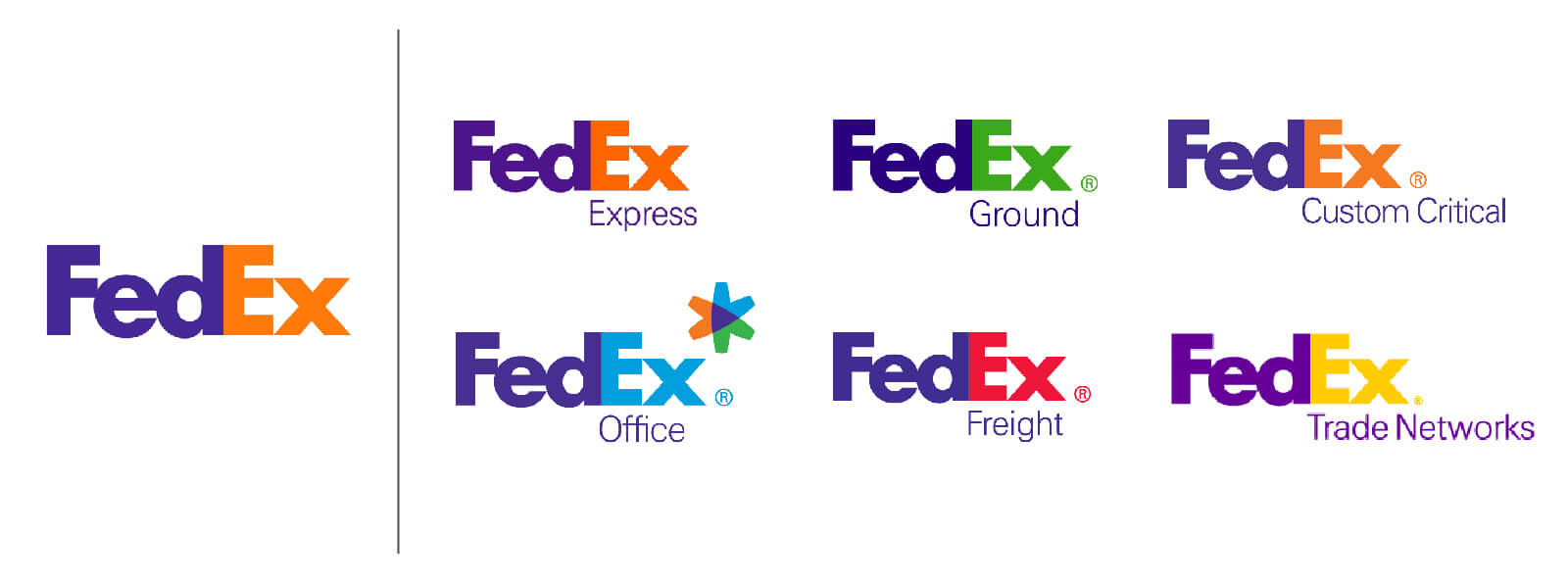 Fedex brand architecture and logos