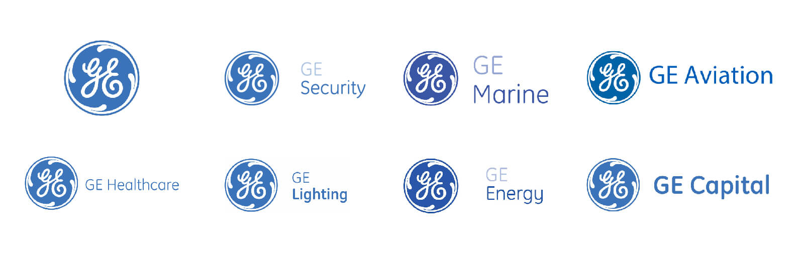 GE Brand logos