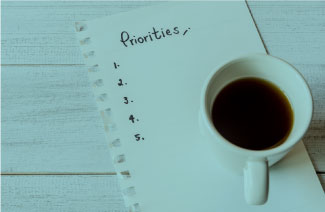 coffe cup and a to-do list