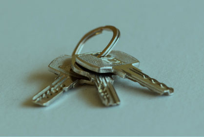 keys on a ring lying on a table