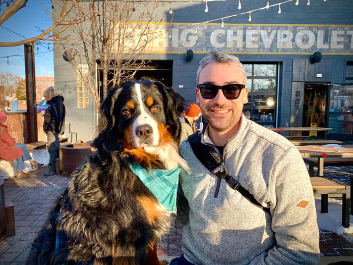 Jackson and his dog Boomer