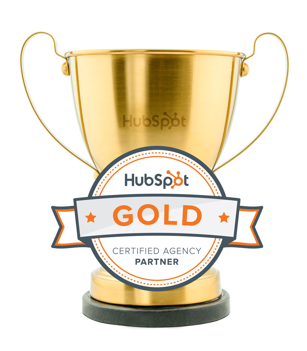 Hubspot Gold Partner Award and Trophy