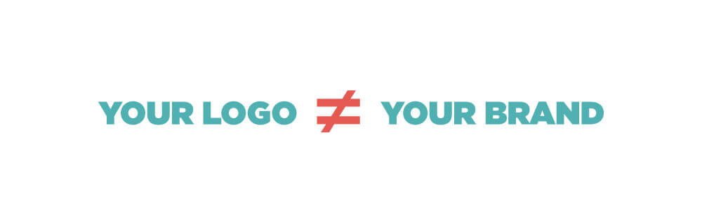 your logo is not your brand graphic